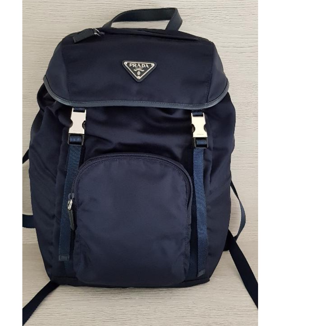 254530c6f726 PRADA Nylon Backpack (Navy), Women's Fashion, Bags & Wallets ...