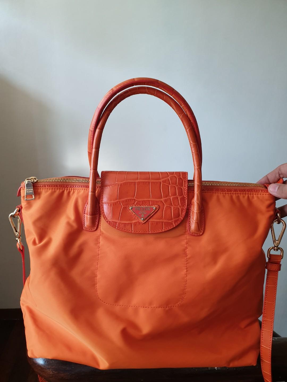 dbc48c4c11 Prada Tessuto Crocodile Tote with Sling, Luxury, Bags & Wallets on ...