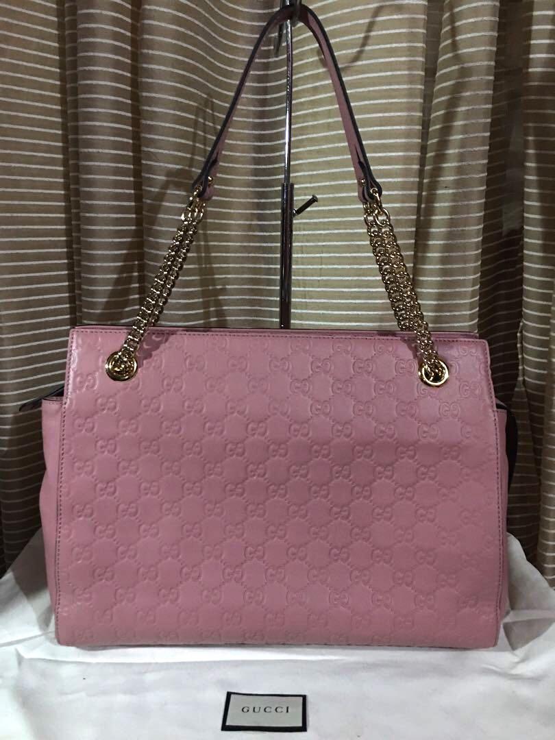 1630d8b29c1 Preloved Gucci Signature Chain handle tote bag