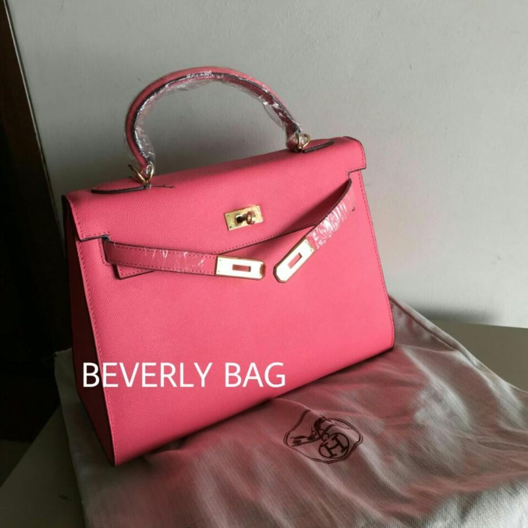 Ready tas Hermes Kelly Epsom 32cm LEATHER MIRROR - shocking pink ... c790eafe67