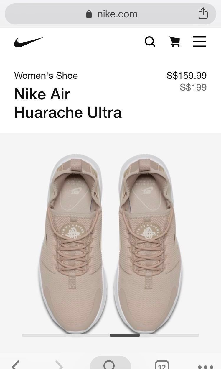 more photos 9f8df da984 Size 37 Nike huarache beige women