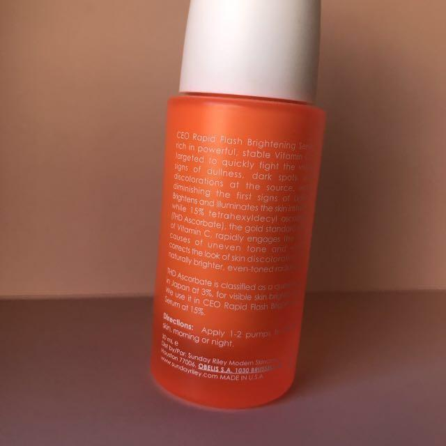 SUNDAY RILEY C.E.O RAPID FLASH BRIGHTENING SERUM (SEEMINGLY NOT AVAILABLE IN AUSTRALIA)