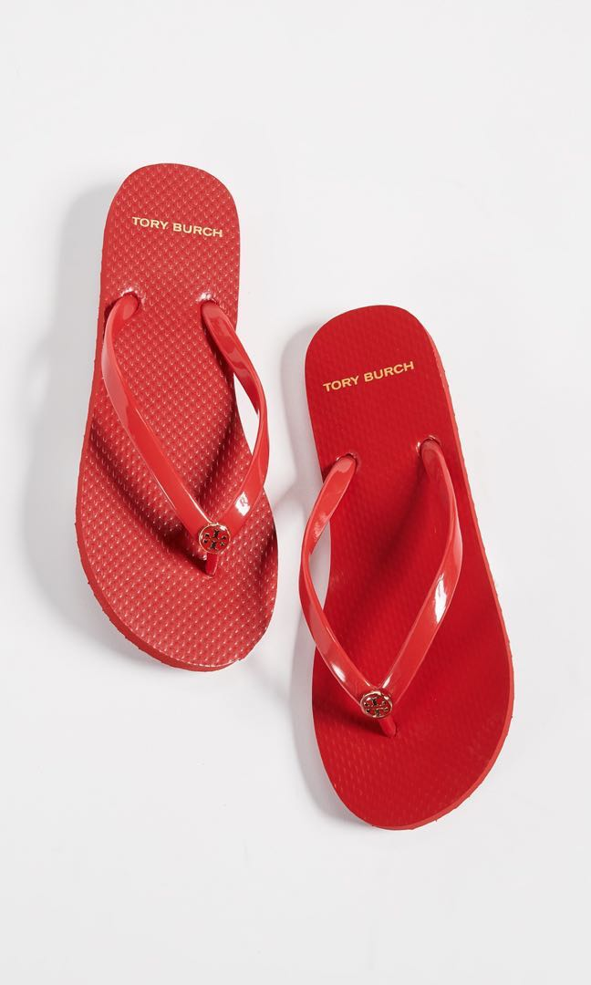 6d810c20e046 Tory Burch Brilliant Red Slippers