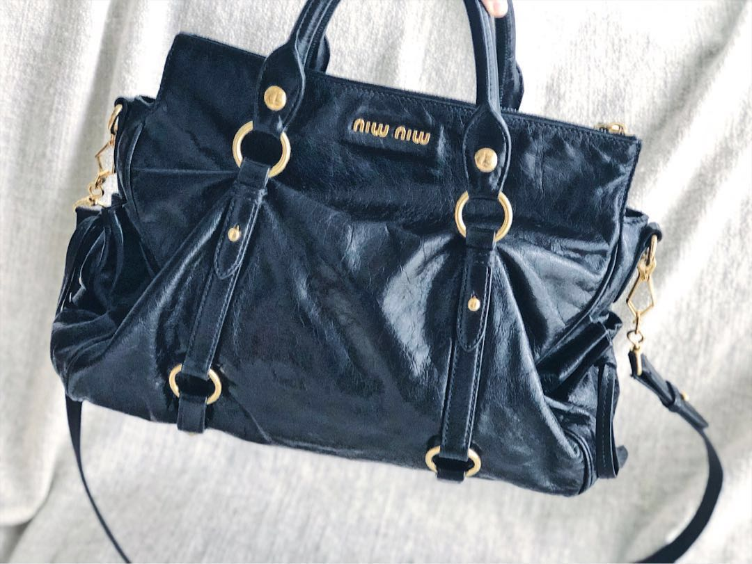 19e335887524 Unique Miu Miu Vitello Handbag (Rare butter leather!)