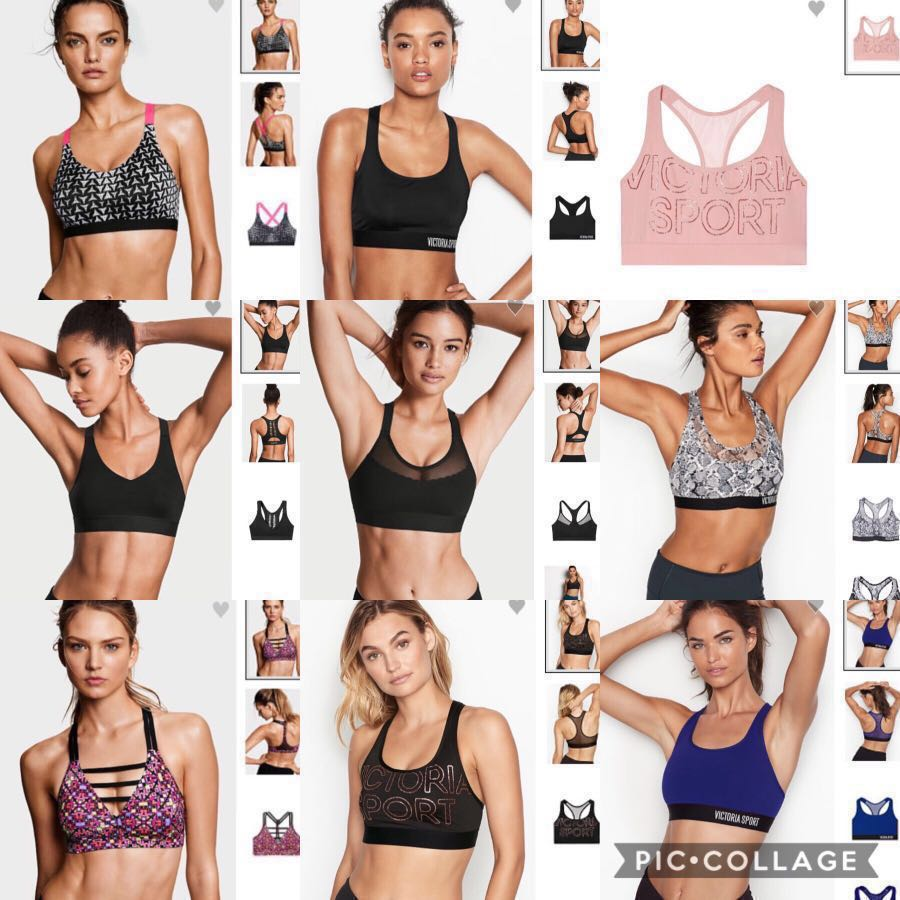 77400fdc3cbf5 Victoria's Secret Sports Bras - the player, mesh, incredible ultra light,  cut out, racerback, strappy plunge bra, lightweight
