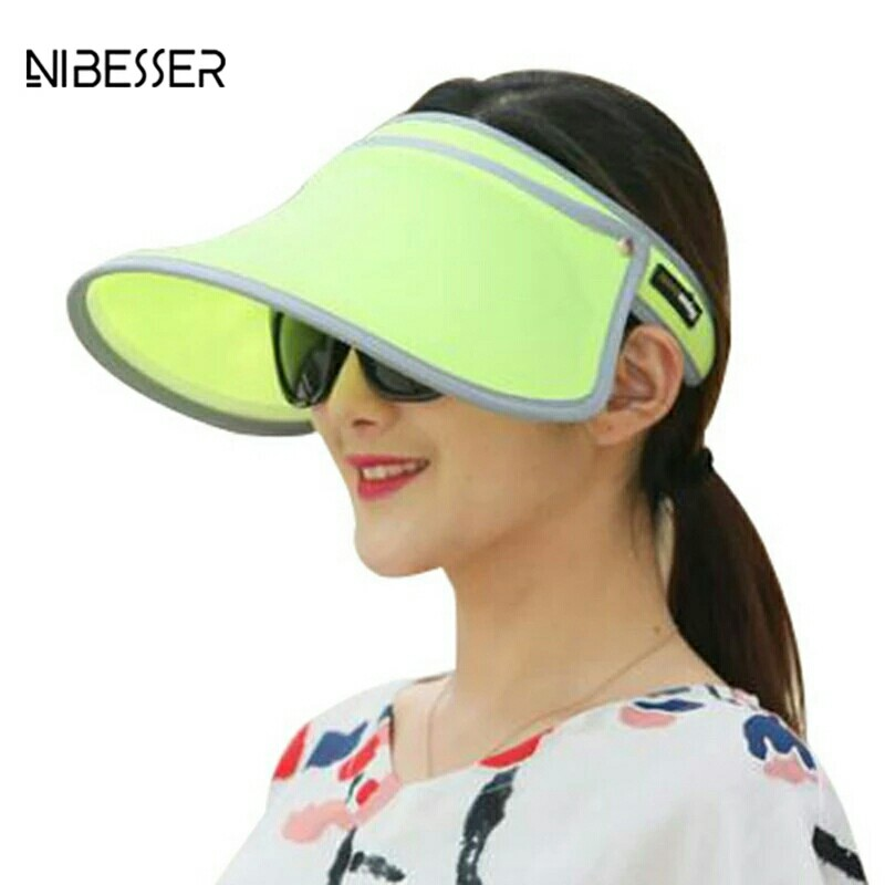 c307d6e6 Women Sunmmer Sun Hats Candy Color Outdoor Sun Visor Hat With Wide ...