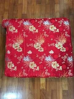 Rosewood furniture 3 seater silk cushion cover without the Centre cover 花莉木