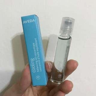 美國製AVEDA 藍色紓壓純香菁滾珠玻璃瓶