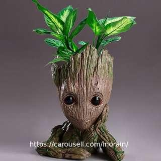 Guardians of The Galaxy Baby Groot Planter / Flower Pot / Pen Holder /Decor / Figurine
