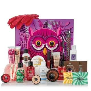 The Body Shop 🎄2018節日限量版24日月曆禮盒🎄 貓頭鷹奧利維亞的精美包裝盒