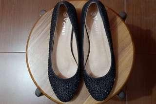 Black Sequined Shoes