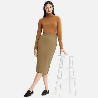 Uniqlo long skirt Brown