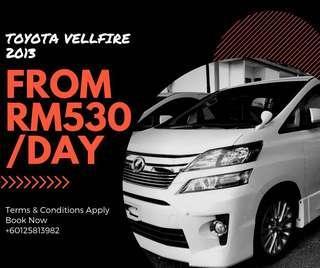 Toyota Vellfire for Rent Sewa
