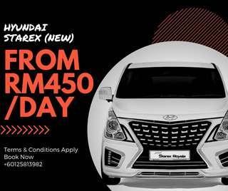New Hyundai Starex for Rent