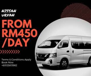 Nissan Urvan for Rent Sewa