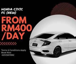 Honda Civic FC for Rent Sewa