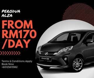 Perodua Alza for Rent Sewa