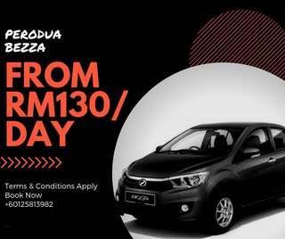 Perodua Bezza for Rent Sewa