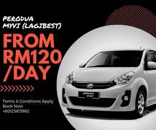 Perodua Myvi for Rent Sewa