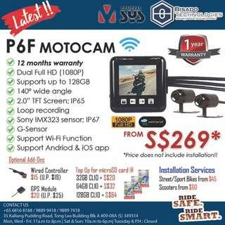 DUAL 1080P WATERPROOF MOTOCAM