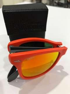 Rayban Orange Folding Wayfarer sunglasses