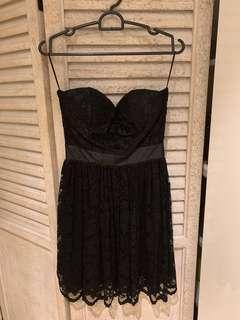 Black Bustier Lace Dress $12