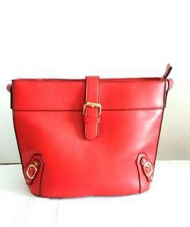 Ladies Red Sling Bag