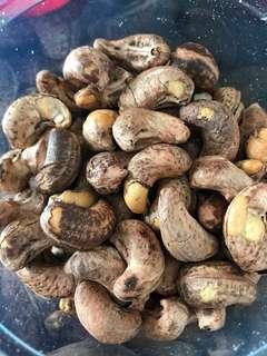 Salt roasted vietnamese cashew nuts with silk skin