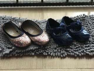 PRELOVED COLETTEE & COTTON ON GIRLS SHOES (Blue Glitter)