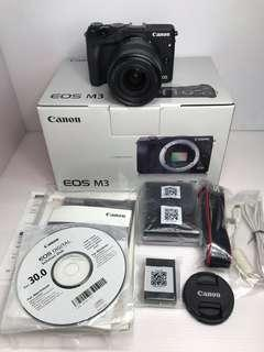 🚚 Canon EOS M3 + 18-55mm 黑色 微單眼 二手