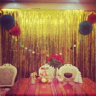 Party background curtain 3M