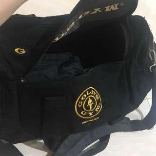 SALE 50% Harbolnas / Gold gym bag ori
