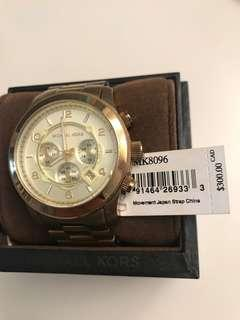 Michael Kors Runway Watch Gold