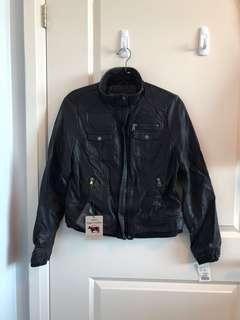 Black Vegan Leather Ladies Jacket- Large