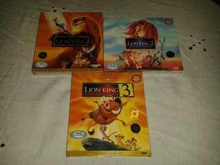 VCD Lion King 1,2 dan 3 Original