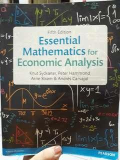 Essentioal Mathematics for Economic Analysis 5th ed.