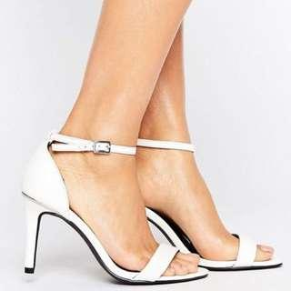 New Look Barely There Wide Fit Strap Heels