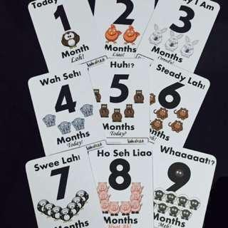 🚚 #1212 Baby Milestone Cards - Singlish Version