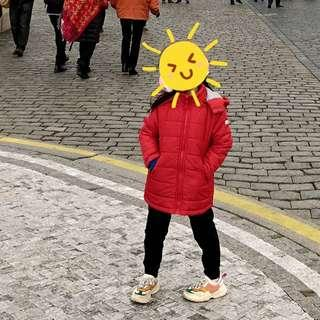 Espirit Girl (Size 104-110 for age 4-5 years old) Red Winter Jacket