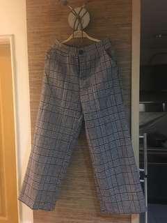 🚚 韓 格紋褲