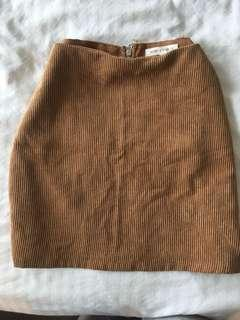 Suede skirt size small