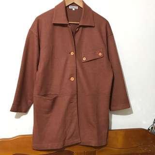 日櫃毛料寬版外套