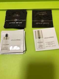 $4/1 (郵費$2-3.7) giorgio armani sample fluid sheer armaniprima serum day long skin perfector spf40 uv base 胭脂 防曬 底霜 精華