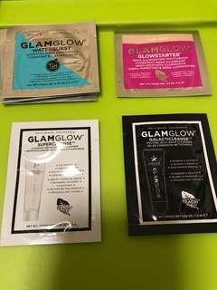 $4/1 glamglow sample waterburst hudrated moisturizer cream glowstarter mega illuminating supercleanse galacticleanse foam