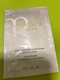 $20/1 包郵 cle de peau sample body serum concentrated brightening