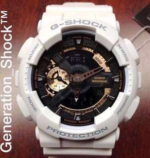 BEST🌟SELLING in GSHOCK DIVER SPORTS WATCH : 1-YEAR OFFICIAL WARRANTY: 100% ORIGINAL AUTHENTIC G-SHOCK WATCH in WHITE-ROSE🌹GOLD ABSOLUTELY TOUGHNESS Best Gift For Most Rough Users & Unisex: GA-110RG-7A / GA-110RG / GA-110 / GA110 / GA110RG-7A / GSHOCK