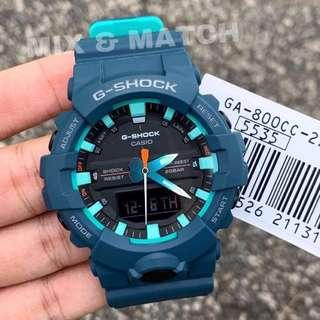 NEW🌟ARRIVAL in GSHOCK CASIO DIVER SPORTS WATCH : 1-YEAR OFFICIAL WARRANTY : 100% ORIGINAL AUTHENTIC G-SHOCK : Best For Most Rough Users & Unisex : GA-800-800CC-2ADR / GA-800CC-2A / GA-800 / GA800CC / GA800 / GSHOCK DIVER WATCH