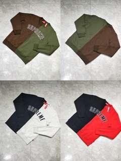 1 Supreme 18FW Split Crewneck Sweatshirt …麻 $280