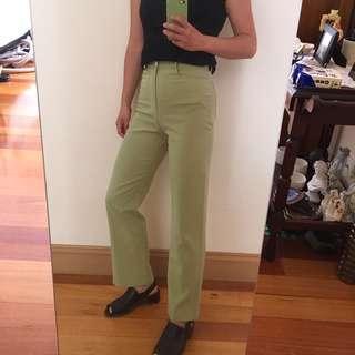 Green vintage high waisted pants