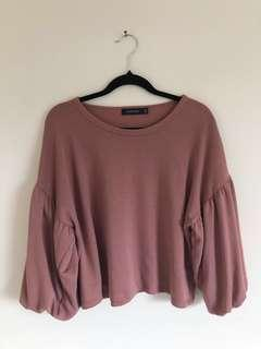 Glassons billow sleeved crop